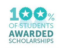 100% of student receive scholarships